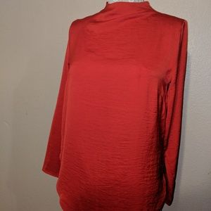 H&M Red long sleeve blouse